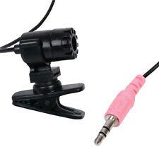 Black Clip-on Microphone Mic PC Laptop - 3.5mm Jack - VOIP - High Sensitivity