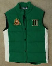 Ralph Lauren Polo Crested Green Thermal Lined England Vest L