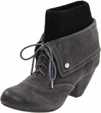 Dr. Scholl's Women's Ali Elephant Grey Ankle High Leather Suede Boots Size 7-9