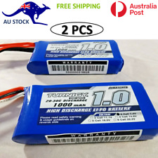 2 Pack Turnigy 1000mAh 2S 20C Lipo Pack RC Battery RC Plane Drone Helicopter
