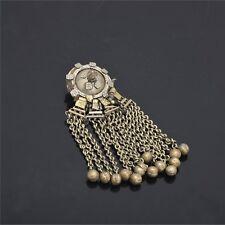 Sanskriti Vintage Indian Antique Metal Broach Or Button Silver Colour