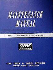 1953 1954 GMC Truck Shop Manuell Pickup Panel Suburban Reparatur Service Wartung