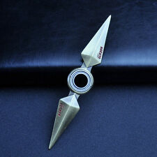 Naruto Leaf Village Ninja Metal Kunai Rotatable Weapon Cosplay Props Collection