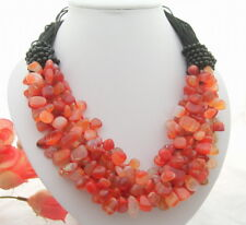 Charming! Natural Carnelian&Onyx Necklace