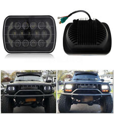 "85W 7x6'' 5X7"" LED Projector Headlight Hi-Lo Beam Halo DRL For Jeep Cherokee XJ"