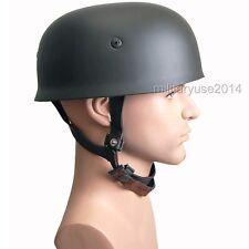 WW2 WWII German Fallschirmjager Paratrooper M38 Steel Helmet Leather Liner Grey
