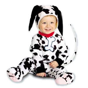 Baby Dalmatiner Kostüm Hund Hundekostüm Kinder schwarz-weiß 90 cm Kinderkostüm