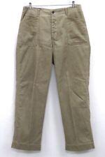 vintage beige POLO RALPH LAUREN corduroy pants cinch back button fly 35 x 32
