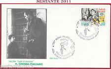 ITALIA FDC ROMA CINEMA VITTORIO DE SICA LADRI DI BICICLETTE 1988 ROMA Z396