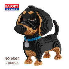 Balody 2100pcs Dachshund Dog Figurine DIY Diamond Mini Building Nano Blocks Toys