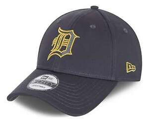 New Era - MLB Detroit Tigers Metallic Logo 9Forty Strapback Cap - Grau