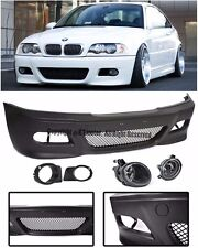 For 99-05 BMW E46 Sedan M3 Style Front Bumper Clear Fog Lights OE Lamp Covers