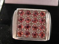 Q87 Mens / Gents 9ct White Gold 1.82 carat Sunset Ruby ring size U