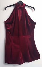BNWT Beautiful Burgundy Velveteen Short Jump Suit All In One Playsuit  size 16