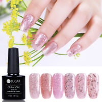 7.5ml UR SUGAR Rose Gold Gel Nail Polish Sequined Glisten in Darkness Soak Off