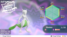 Pokemon Let's Go Pikachu & Eevee - Timid Shiny Mewtwo - 6 IV, Max AVs + Free Mew