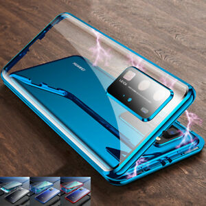 Case for Huawei P40 Pro Lite P30 360° Full Glass Clear Magnetic Phone Cover