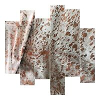 Leather Sheets, Metallic Leather Acid Wash White & Rose Gold, Cowhide Leather