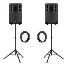 """2x Rcf Art 310A Altavoz Activo 10"""" MK4 800W Banda De Discoteca DJ soportes y cables Inc."""
