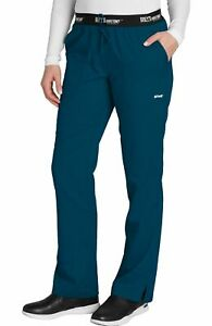 Grey's Anatomy #4275 Elastic/Draw Logo Waist Scrub Pant in Bahama Size XL-Petite