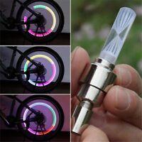 2X Bunt Fahrrad Lichter Fahrrad Reifen Ventilkappen Rad Speichen LED-Licht