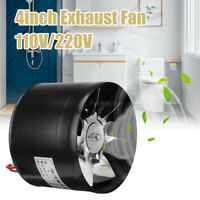 "4"" Inline Duct Booster Fan Ventilation Extractor Exhaust Air Cooling Vent Blower"