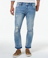 INC International Concepts I.N.C. Men's Unhemmed Ripped Stretch Skinny Jeans, 36