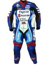 Suzuki GSXR Tyco Moto Combinaison Cuir Veste Pantalon Racer Armour protection