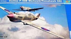 Trumpeter - Curtiss P-40 B Warhawk Tomahawk Iia Model Kit 1:48 Fighter Kit