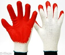 Red Latex Half Coated Work Gloves 30 pairs household work safety