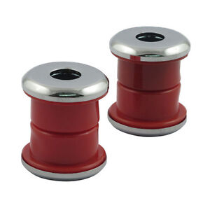 Riser Damper PU Red, Extra Hard, With Discs Chrome, for Harley - Davidson