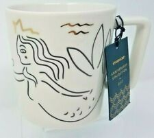 Starbucks Siren at Sea 2017 Anniversary Collection White Ceramic Mug 12 OZ
