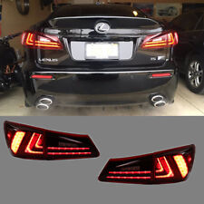 LED 2015 Model Tail Lights For Lexus IS250 IS350 ISF 2006-2012 Red Lens Set
