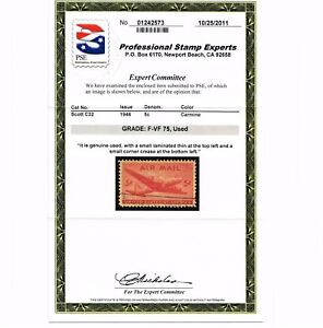 GENUINE SCOTT #C32 F-VF USED PSE GRADED CERT - ESTATE SALE #6013