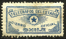 CHILE, TELEGRAPH OFFICIAL SEAL, MINT NO GUM, SMALL THIN SPOT IN THE BACK