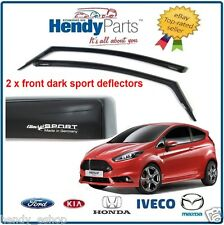 New! GENUINE FORD 2013 FIESTA ST 3 DOOR CLIMAIR WIND AIR DEFLECTORS DARK TINT