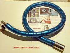 CABLE LOCK HEAVY DUTY - MOTOR CYCLE OR BIKE LOCK - VERY SECURE - NEW