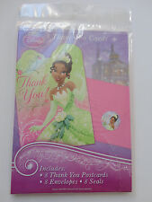 Disney Tiana Princess and the Frog Thank you Cards 8 COUNT