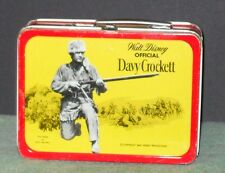 RARE 1955 DAVY CROCKETT METAL LUNCH BOX BY KRUGER EXCELLENT CONDITION
