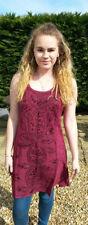 Vestiti da donna Hippie in cotone senza maniche