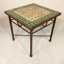Mosaic Table Morocco Side Green Tea Flower Vintage Antique Möbel