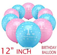 10 PERSONALIZED HAPPY 1st BIRTHDAY BANNERS - BOY OR GIRL - FIRST BALLOONS UK
