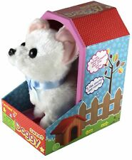 Haktoys Walking Toy Puppy (White or Brown) | Battery Operated Walks and Barks