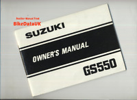 Suzuki GS550E (1982-1985) Genuine Owners Riders Manual Handbook GS 550 E CK09