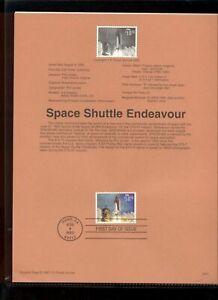 #2544A $10.75 Space Shuttle Endeavour Stamp USPS #9531 Souvenir Page