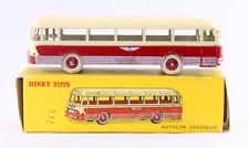 1 / 43 ème DINKY TOYS  AUTOCAR CHAUSSON rouge / jouet ancien