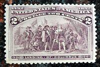 Beautiful OGph 1893 Columbian Exposition Issue 2c Stamp Scott# 231 J121