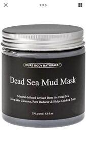 8.8 Ounce Naturals Purifying Dead Sea Mud Mask Facial Treatment for Men Women