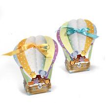 50 pz.Scatolina portaconfetti bomboniera Mongolfiera animali in cartone Mandorle