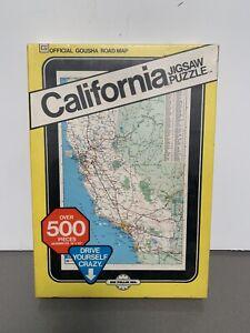 Vintage Sealed State CALIFORNIA Jigsaw Puzzle 1972 by Hoi Polloi Gousha Road Map
